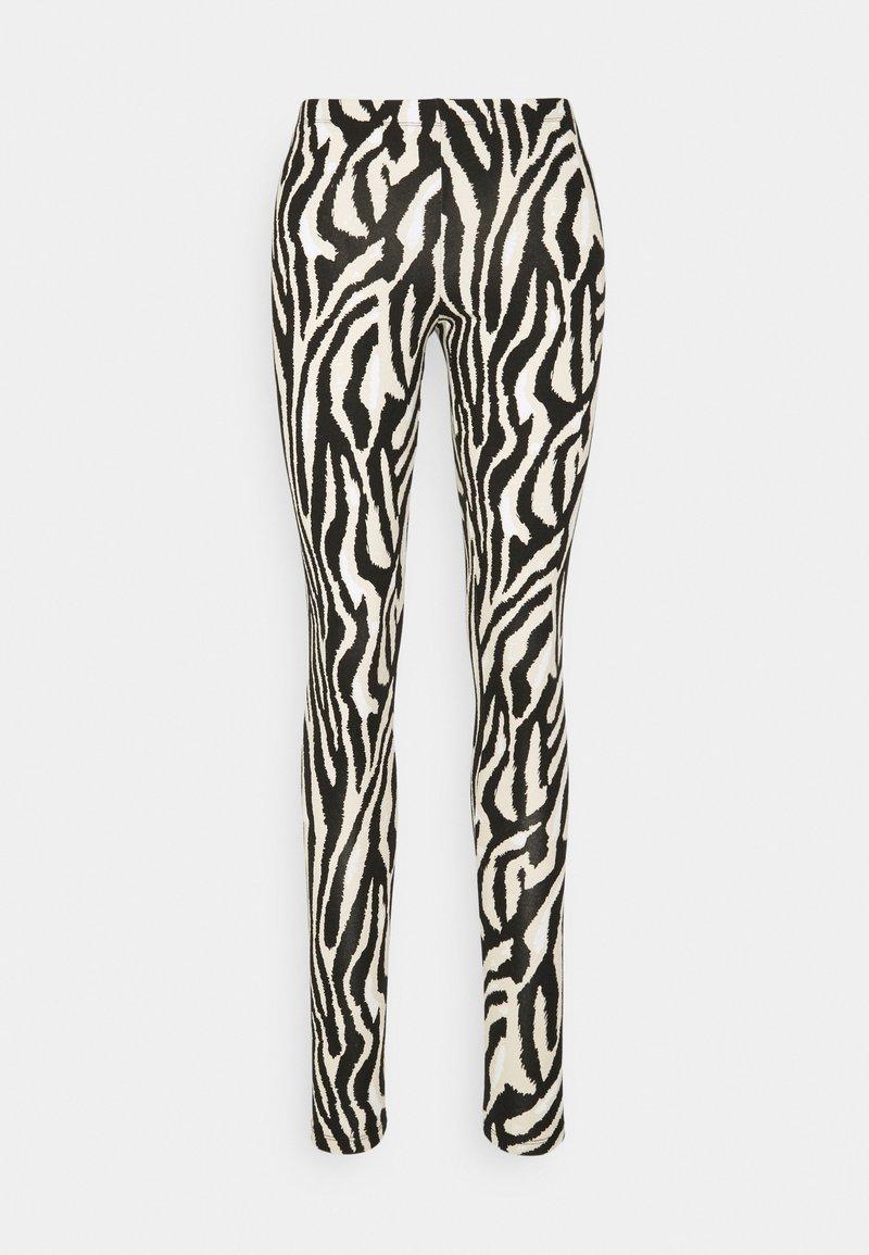 Saint Tropez - DAVINA - Leggings - Trousers - black grand zebra