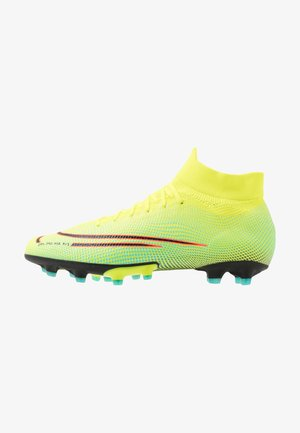MERCURIAL 7 PRO MDS AG-PRO - Moulded stud football boots - lemon/black/aurora green