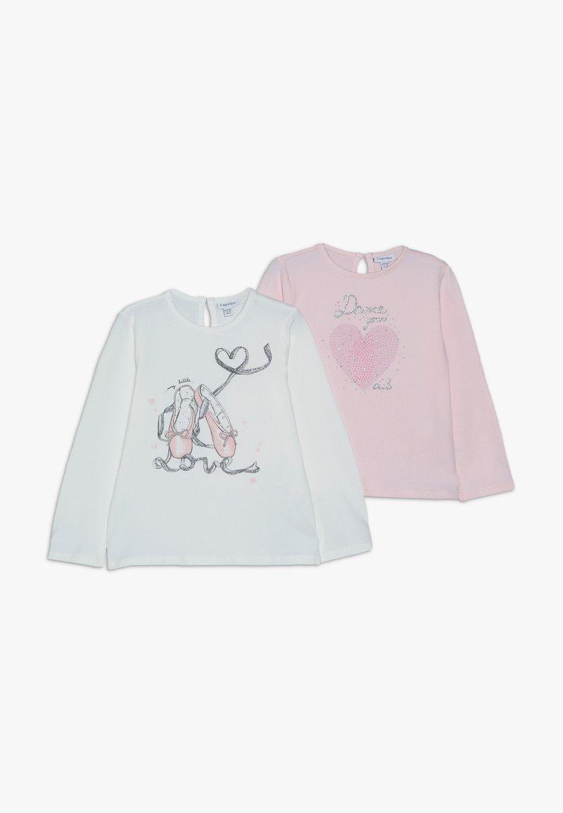 OVS - BABY PRINT 2 PACK - Langærmede T-shirts - brilliant white/blushing bride