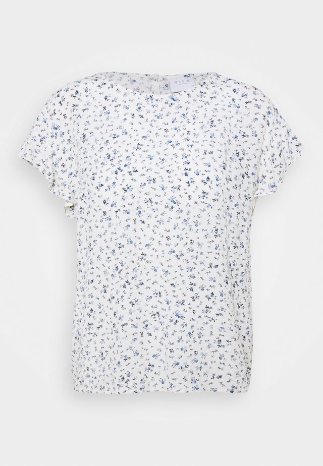 VIMESA - Print T-shirt - cloud dancer