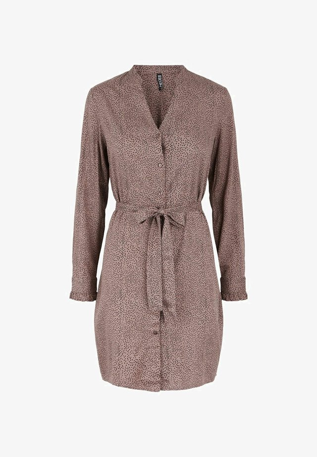Shirt dress - taupe gray