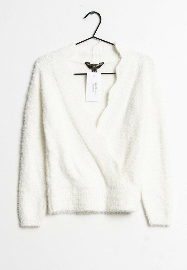 Fleece trui - white