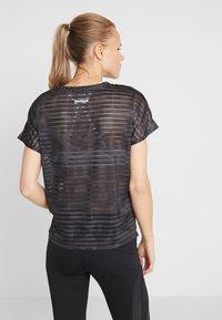 Desigual - TEE STRIPES PATCH - Print T-shirt - dark green - 2