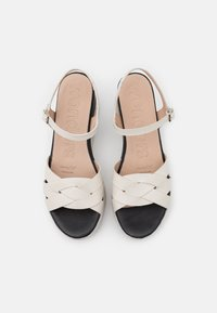 WONDERS - Platform sandals - pergamena off - 5