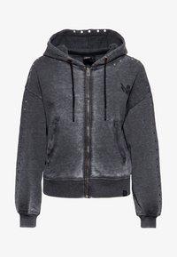 Queen Kerosin - Zip-up sweatshirt - schwarz - 0