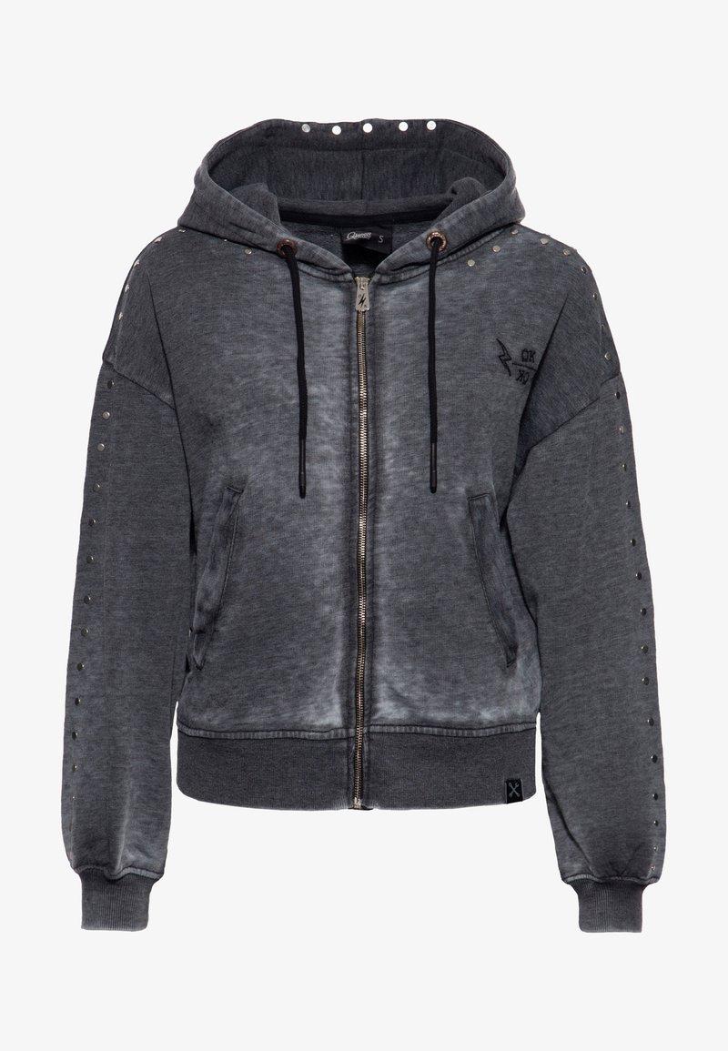 Queen Kerosin - Zip-up sweatshirt - schwarz