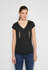 Elisabetta Franchi - Basic T-shirt - nero - 0