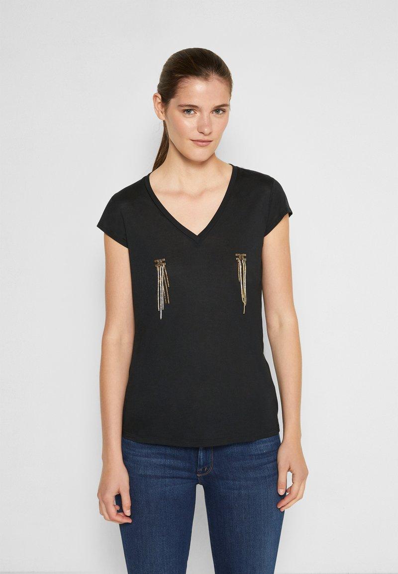 Elisabetta Franchi - Basic T-shirt - nero