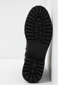 Even&Odd - LEATHER BOOTIE - Platåstøvletter - black - 6