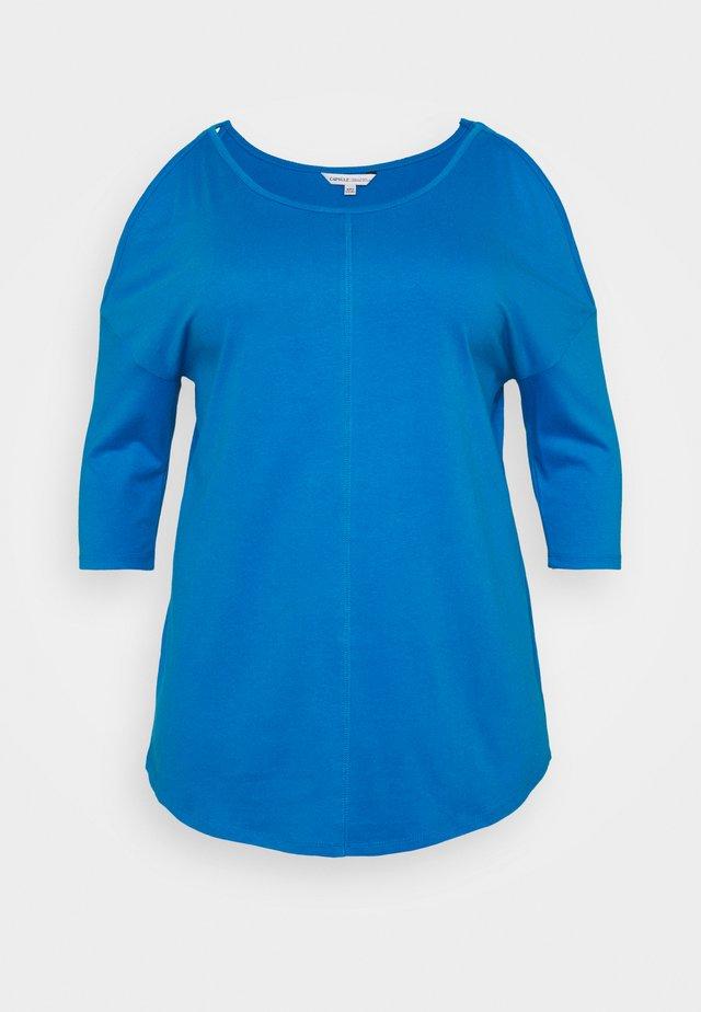 COLD SHOULDER TUNIC - Camiseta de manga larga - blue