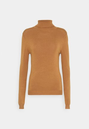 VMGLORY ROLLNECK BLOUSE - Jumper - tobacco brown