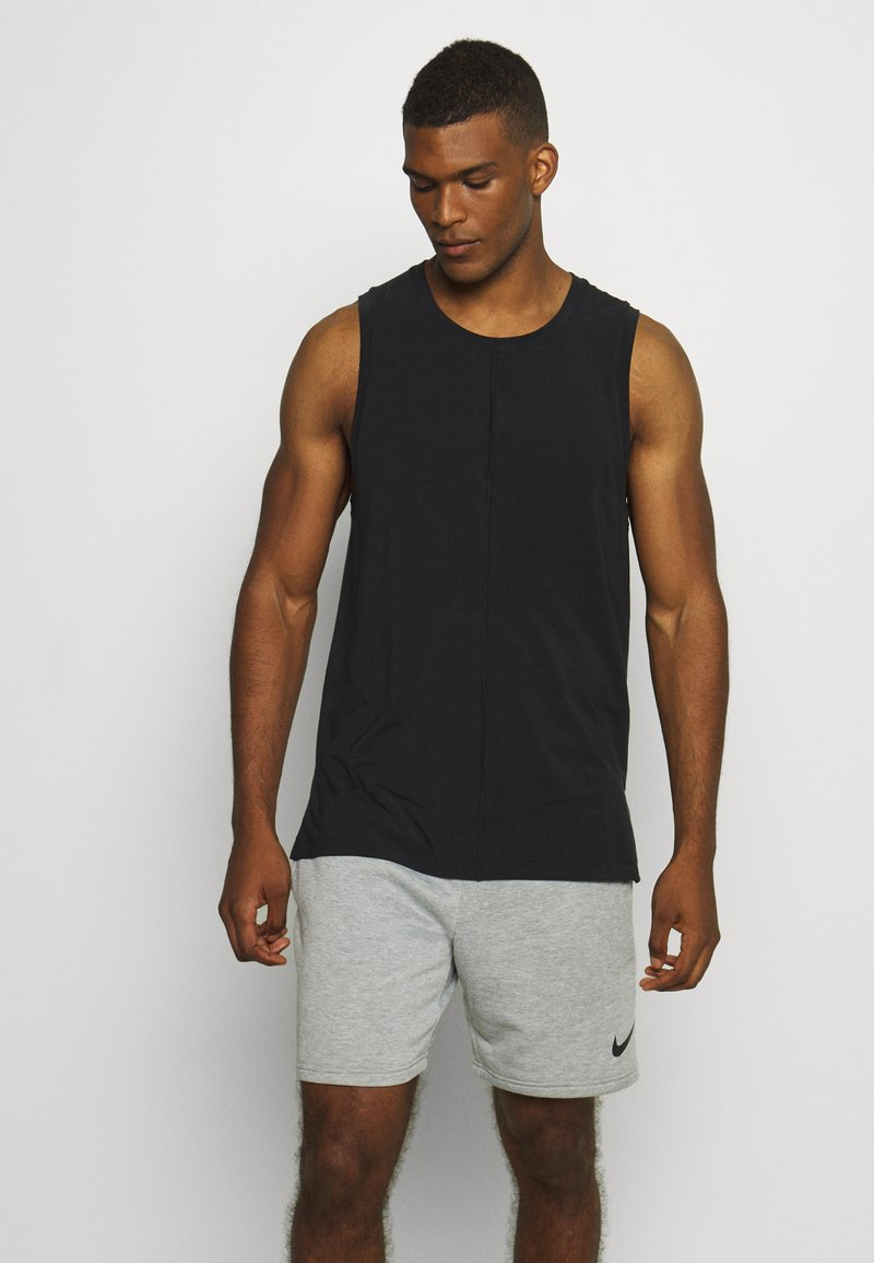Nike Performance - DRY TANK YOGA - Camiseta de deporte - black/iron grey