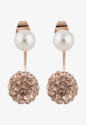 CALIGARI - Earrings - rosegold-coloured/peach/pearl