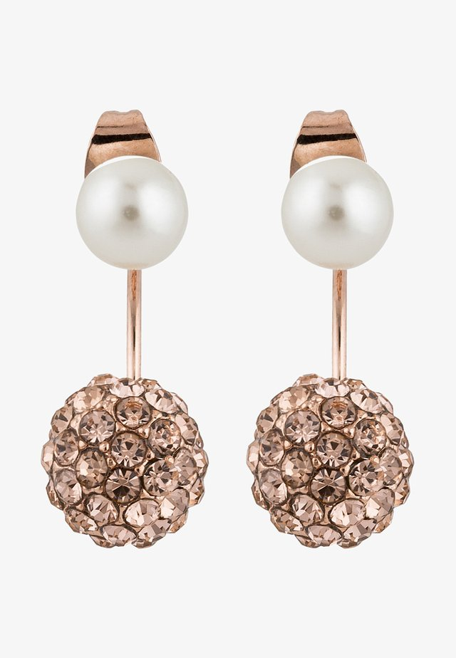 CALIGARI - Earrings - rosegold-coloured/peach/pearl