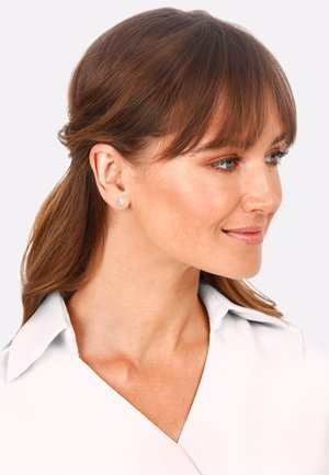Star  - Earrings - silver-colored