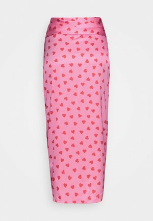 PINK HEARTS JASPRE SKIRT - Jupe crayon - pink
