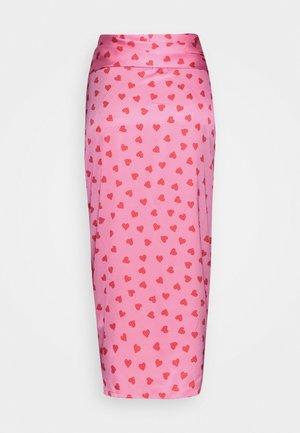 PINK HEARTS JASPRE SKIRT - Pouzdrová sukně - pink