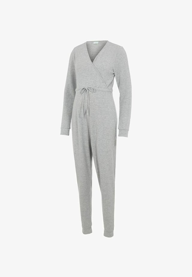 Jumpsuit - light grey melange
