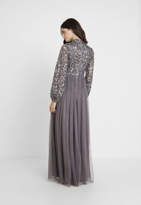Maya Deluxe - BISHOP SLEEVE DELICATE SEQUIN  WITH KEYHOLE - Occasion wear - charcoal - 3