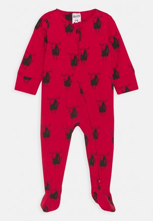 THE LONG SLEEVE ZIP ROMPER UNISEX - Sleep suit - lucky red
