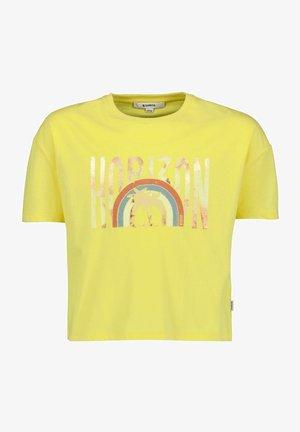 Print T-shirt - summer yellow
