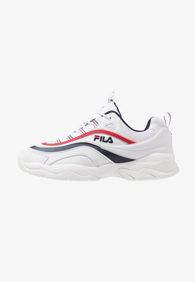 RAY - Sneakersy niskie - white/navy/red