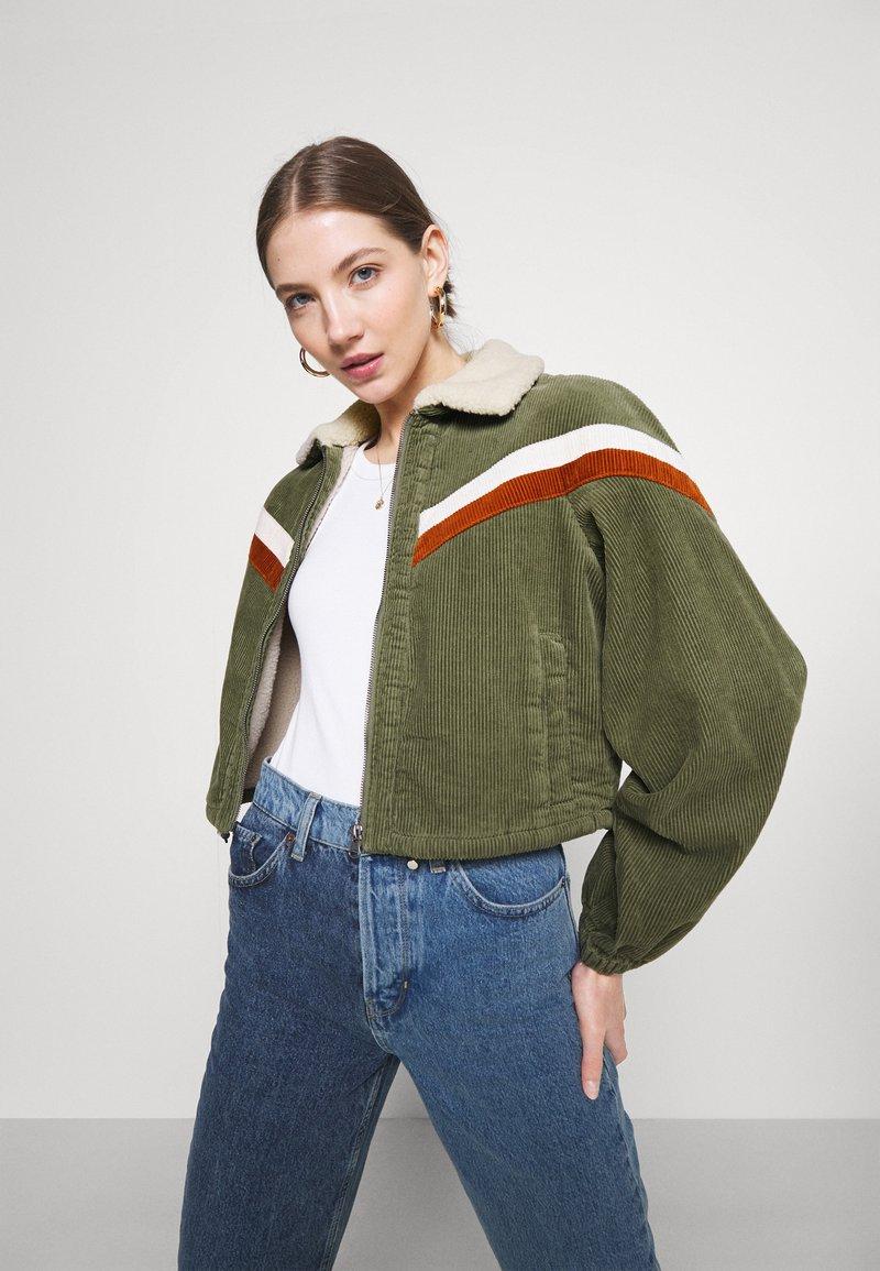 Cotton On - RETRO JACKET - Light jacket - khaki
