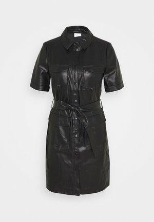 VITRIA COATED DRESS - Freizeitkleid - black