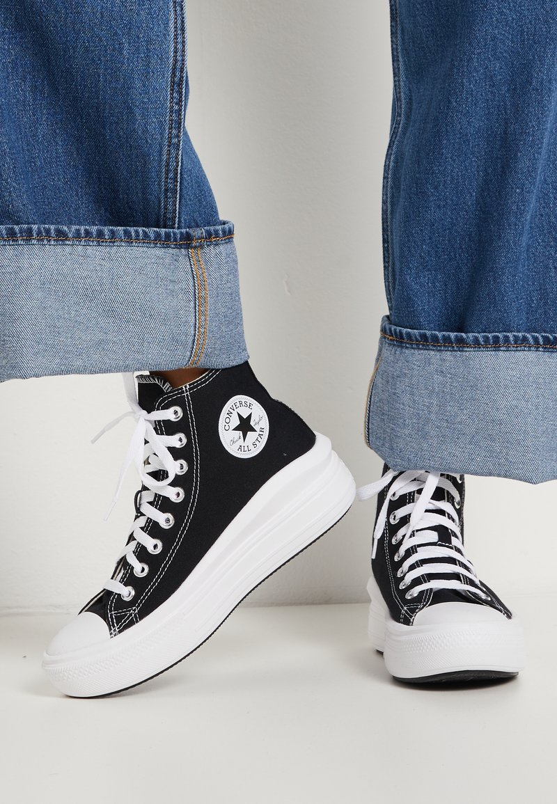 Converse - CHUCK TAYLOR ALL STAR MOVE - High-top trainers - black/natural ivory/white
