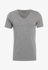 Jack & Jones - BASIC V-NECK  - T-shirt - bas - grey - 4