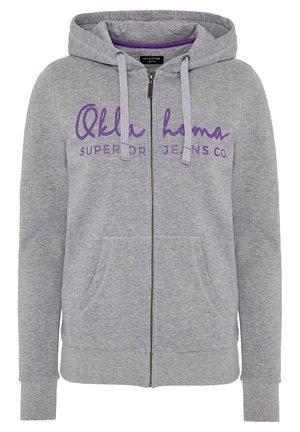 REGULAR FIT - Zip-up hoodie -  neutr. gray