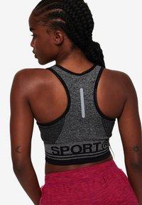 Superdry - MIT EINSATZ - T-shirt bra - mottled black - 0