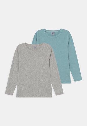2 PACK UNISEX - Langærmede T-shirts - mottled grey