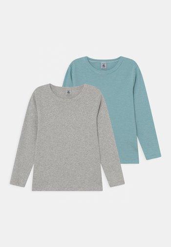 2 PACK UNISEX - Long sleeved top - mottled grey