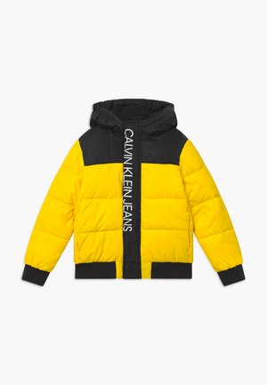 COLOUR BLOCK PUFFER JACKET - Winter jacket - yellow