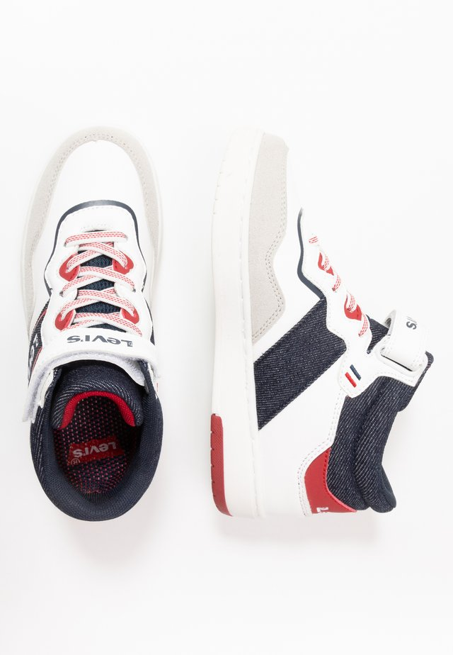 IRVING MID - Sneakers alte - white/navy