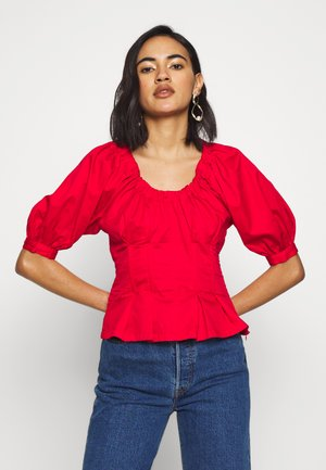 THE WAIST DETAIL BLOUSE - Bluser - carmine red