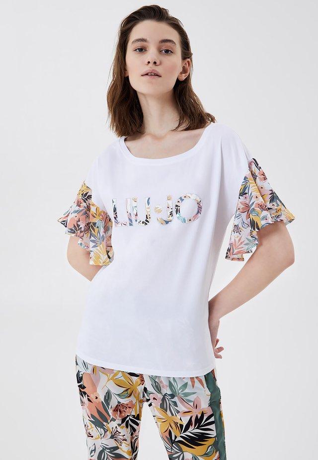T-shirt med print - white tropical liu jo