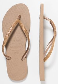 Havaianas - SLIM GLITTER - Pool shoes - rose gold - 3