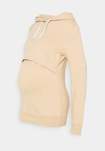 NURSING - Sweatshirt - Bluza z kapturem - sand