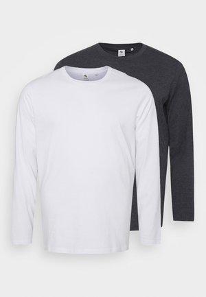 LONGSLEEVE 2 PACK - Longsleeve - grey/white