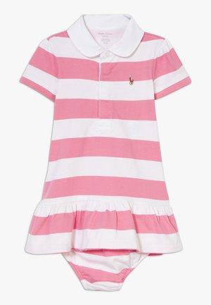 RUGBY STRIPE DRESSES  - Jersey dress - pink multi