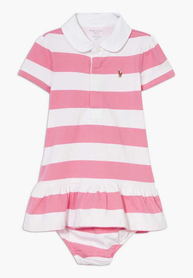 RUGBY STRIPE DRESSES  - Jersey dress - pink multi