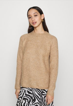 YASALLU O NECK - Pullover - tawny brown
