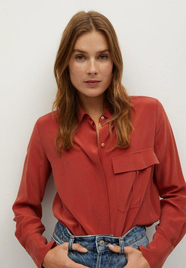 COMO - Button-down blouse - rood