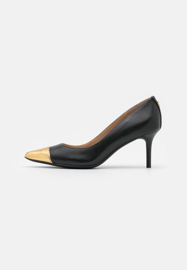 LANETTE - Czółenka - black/modern gold