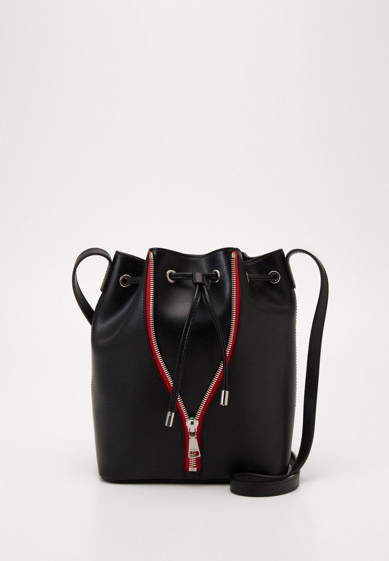 HUGO - ISABEL DRAWSTRING - Across body bag - black