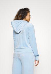 Juicy Couture - NUMERAL HOODIE - Zip-up sweatshirt - powder blue - 3