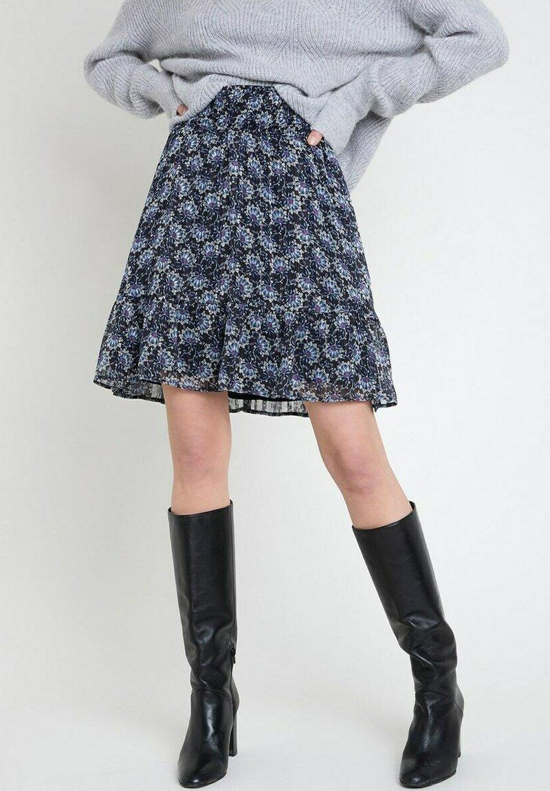 Maison 123 - A-line skirt - bleu marine