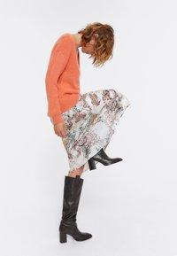 Uterqüe - A-line skirt - beige - 3